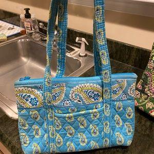 Small blue Vera Bradley print bag